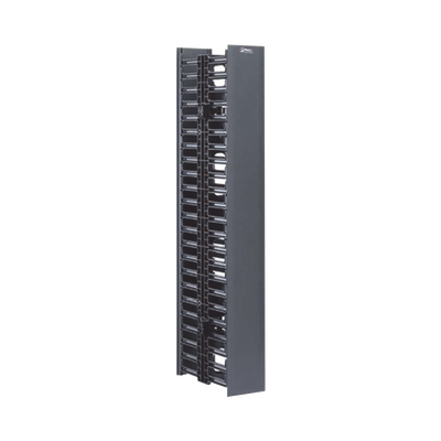 WMPV22E Organizador Vertical Doble de 22.5 UR Capacidad de 211 Cables (Cat6) 125 mm de Ancho Color Negro - WMPV22E
