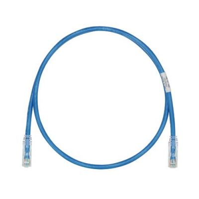 UTP28SP3BU Cable de Parcheo TX6, UTP Cat6, Diámetro Reducido (28AWG), Color Azul, 3ft - VS-Panduit-UTP28SP3BU